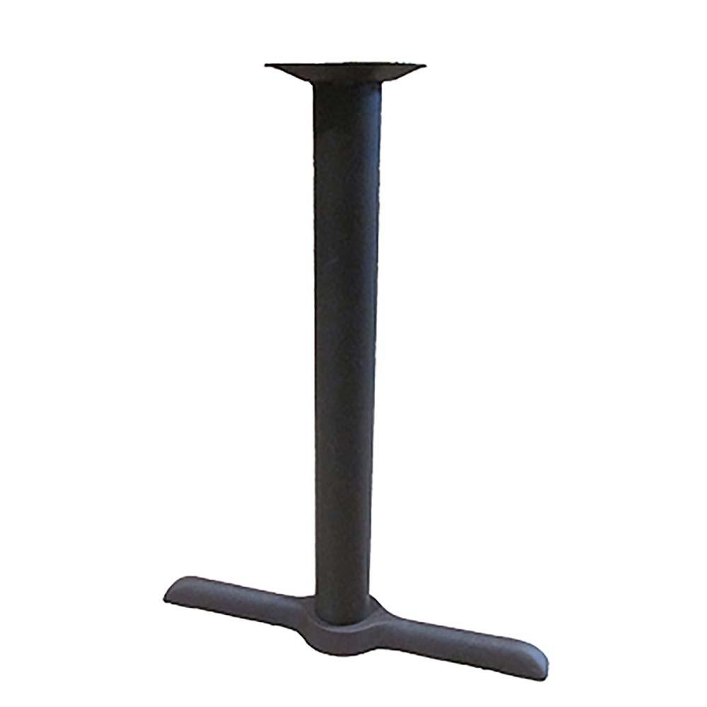 """Oak Street Table Base 22/"""" x 30/"""" base spread 3/"""" steel column black B2230-STD"""