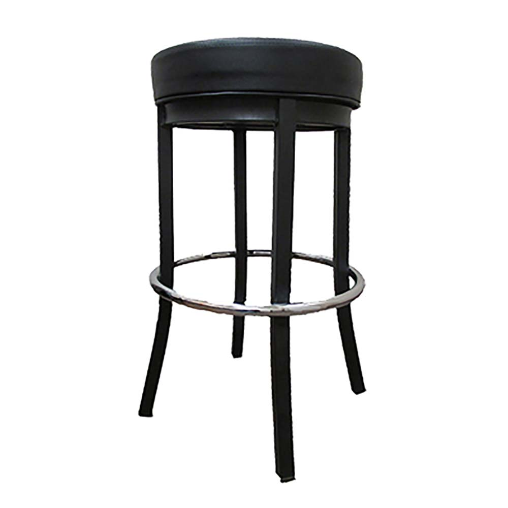 black backless counter stools bar stool backless 17 quot dia upholstered seat metal 4645
