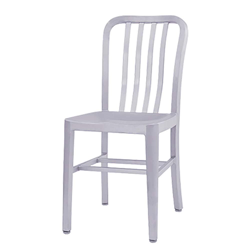 Oak Street CM 252 ALM   Navy Series Dining Chair, Ladder Back,