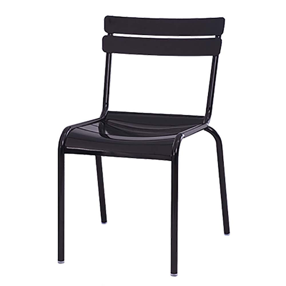 Oak Street CM 824   Newport Dining Chair, Metal Ladder Back U0026 Seat,  Indoor/outdoor Use, Black Matte