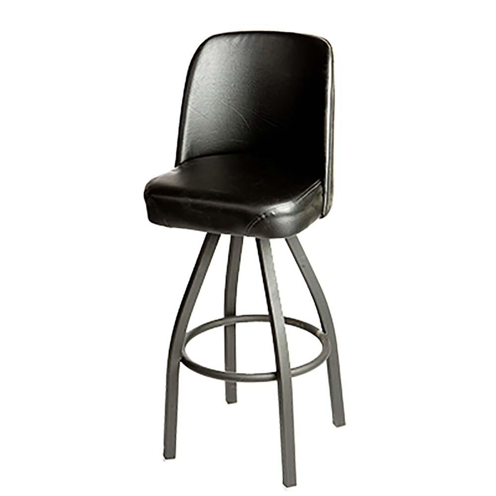 Oak Street Sl1136 Red Swivel Bar Stool Counter Height Upholstered Bucket Seat Waterfall Front 4 De