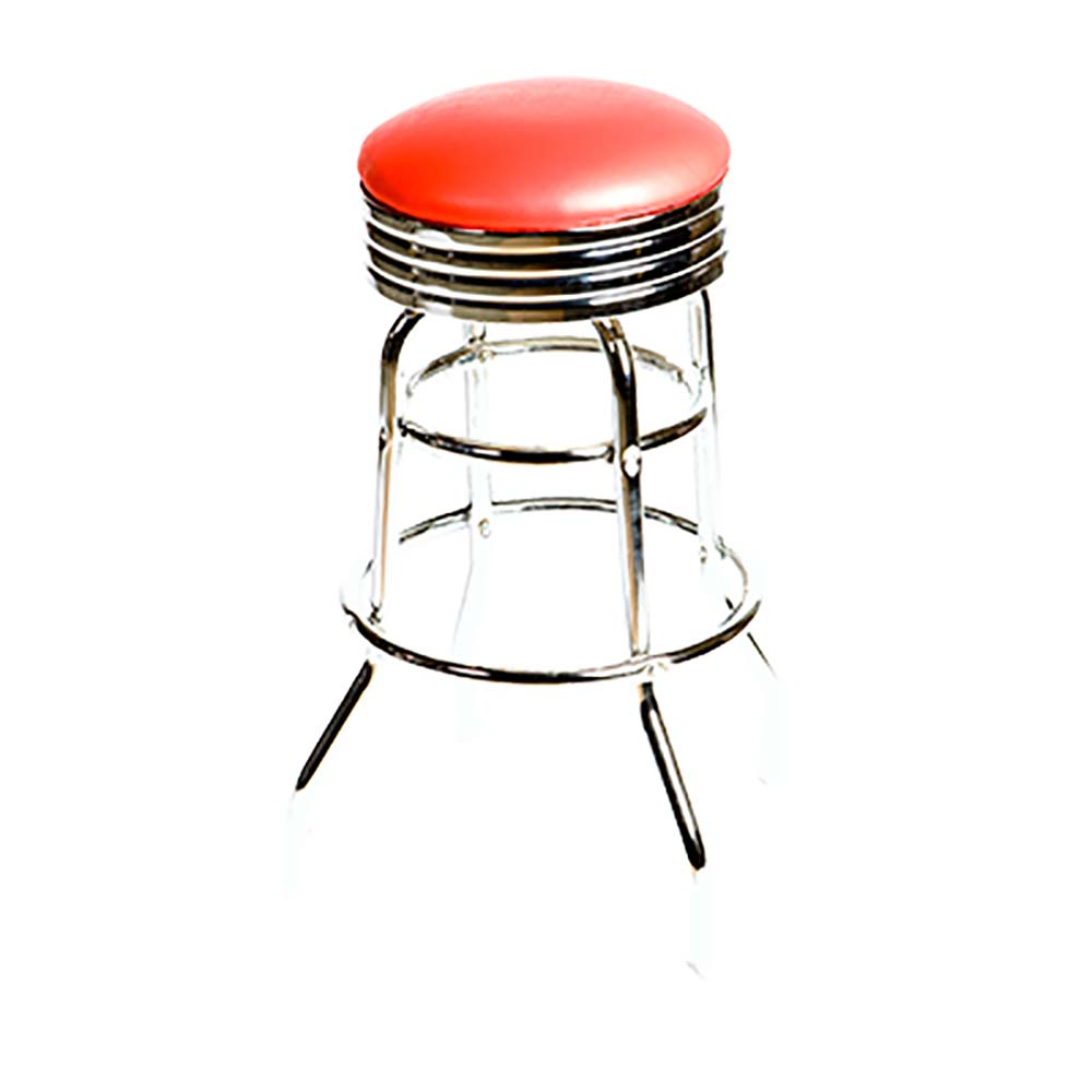 Oak Street Sl2131 Red Swivel Bar Stool Backless Retro