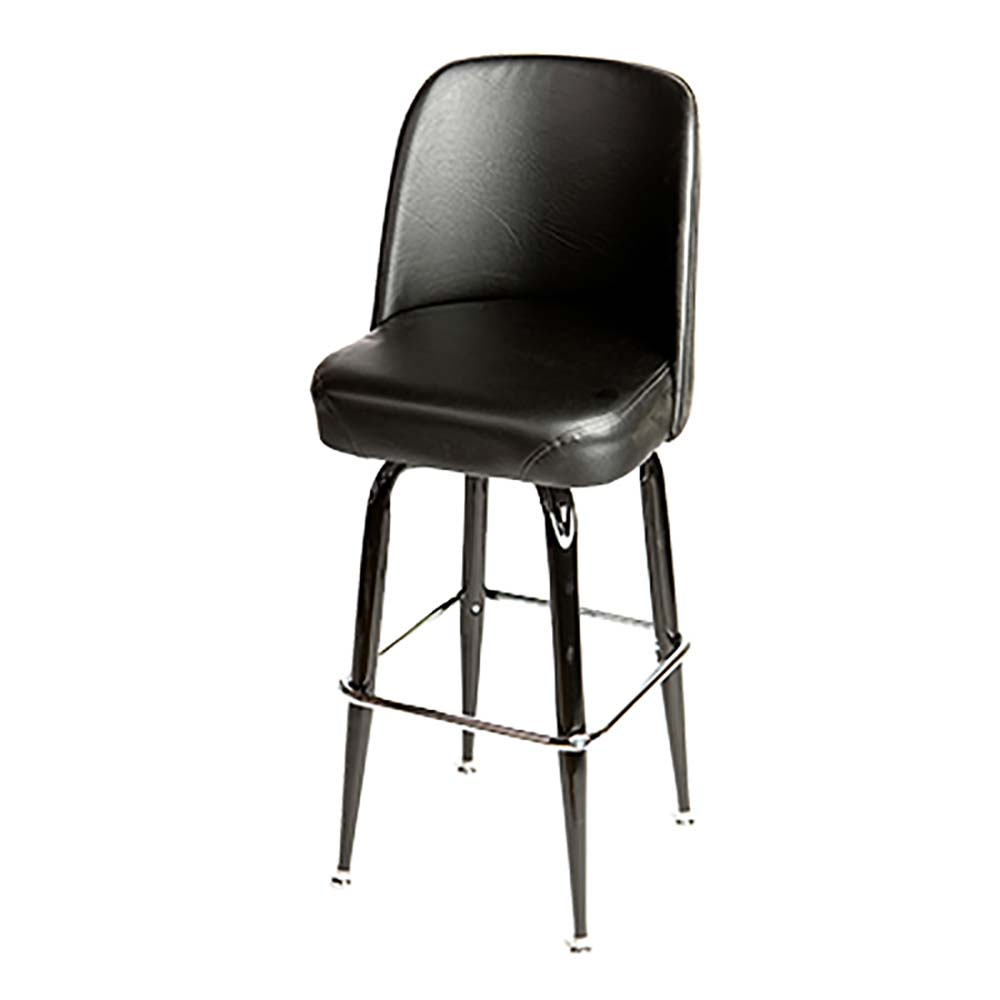Oak Street Sl2133 Blk Black Vinyl Bar Stool W Black Frame