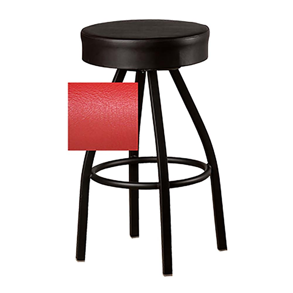 Swivel Bar Stool Backless Xl Upholstered Button Top