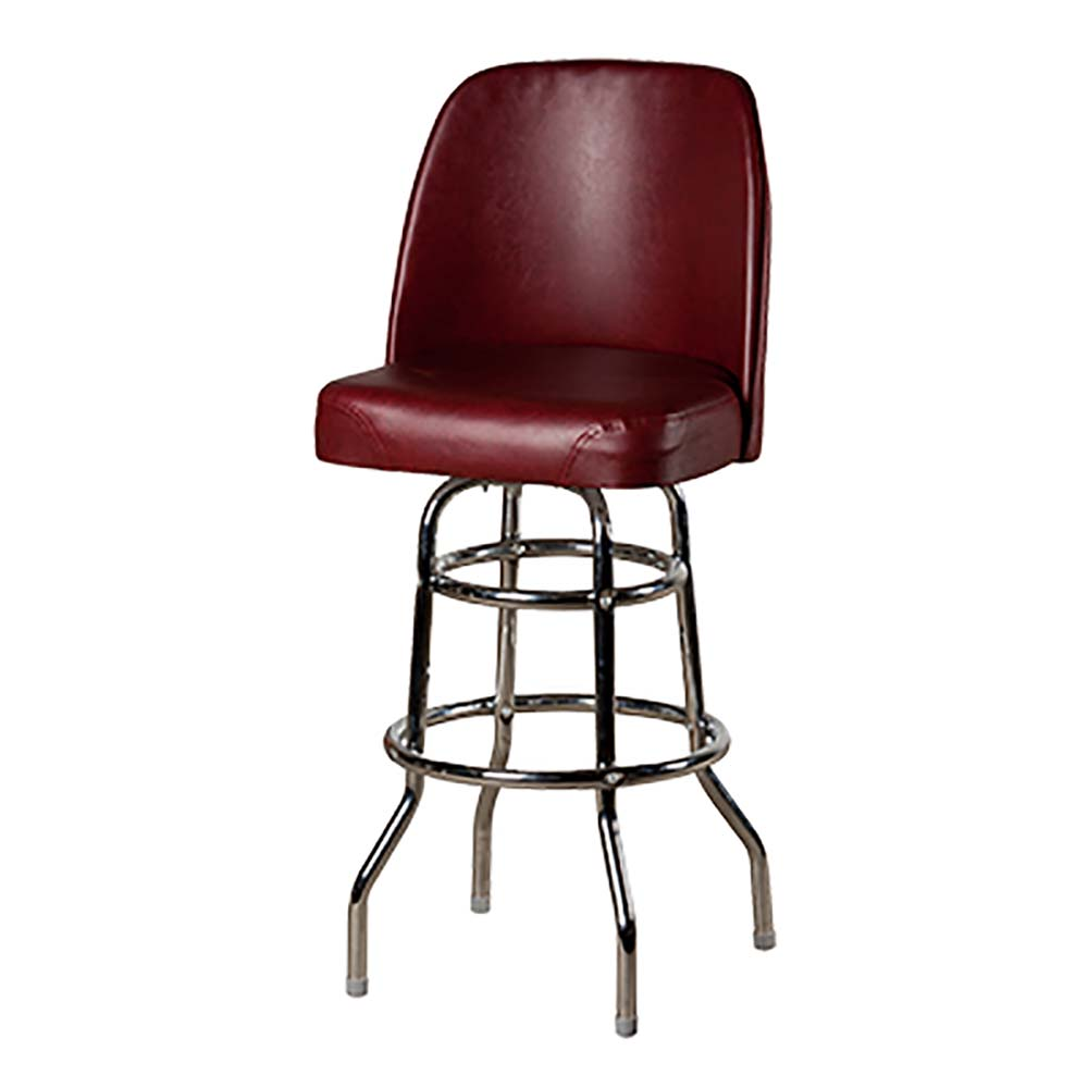 Oak Street Sl3134 Wine Swivel Bar Stool Upholstered