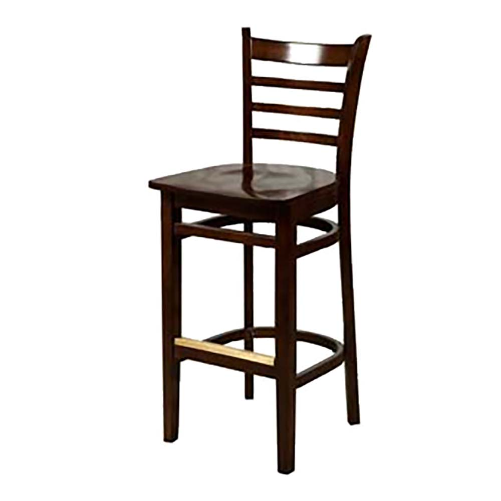 Sensational Oak Street Wb101Wa Barstool Ladder Back Matching Wood Seat Footrest With Brass Footguard Non M Gmtry Best Dining Table And Chair Ideas Images Gmtryco