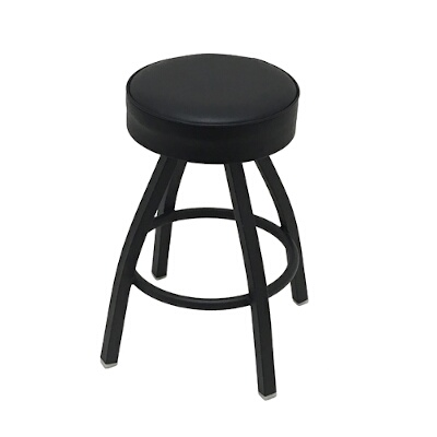 Phenomenal Oak Street Sl1132 Blk Swivel Bar Stool Counter Height Backless Upholstered Button Top Seat Import Pabps2019 Chair Design Images Pabps2019Com