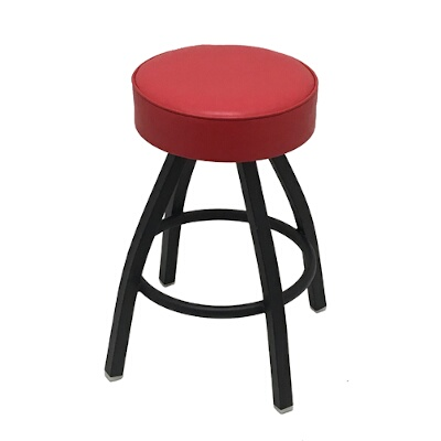Marvelous Oak Street Sl1132 Red Swivel Bar Stool Counter Height Backless Upholstered Button Top Seat Import Machost Co Dining Chair Design Ideas Machostcouk