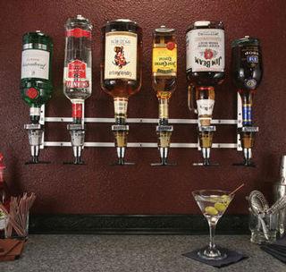 Precision Pourers Wmmm Wall Mount Metered Liquor Dispenser 6 Bottle