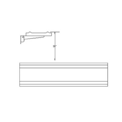 Randell Ran Inv24 C Inverted Round Tray Slide 24 Inch Length 10