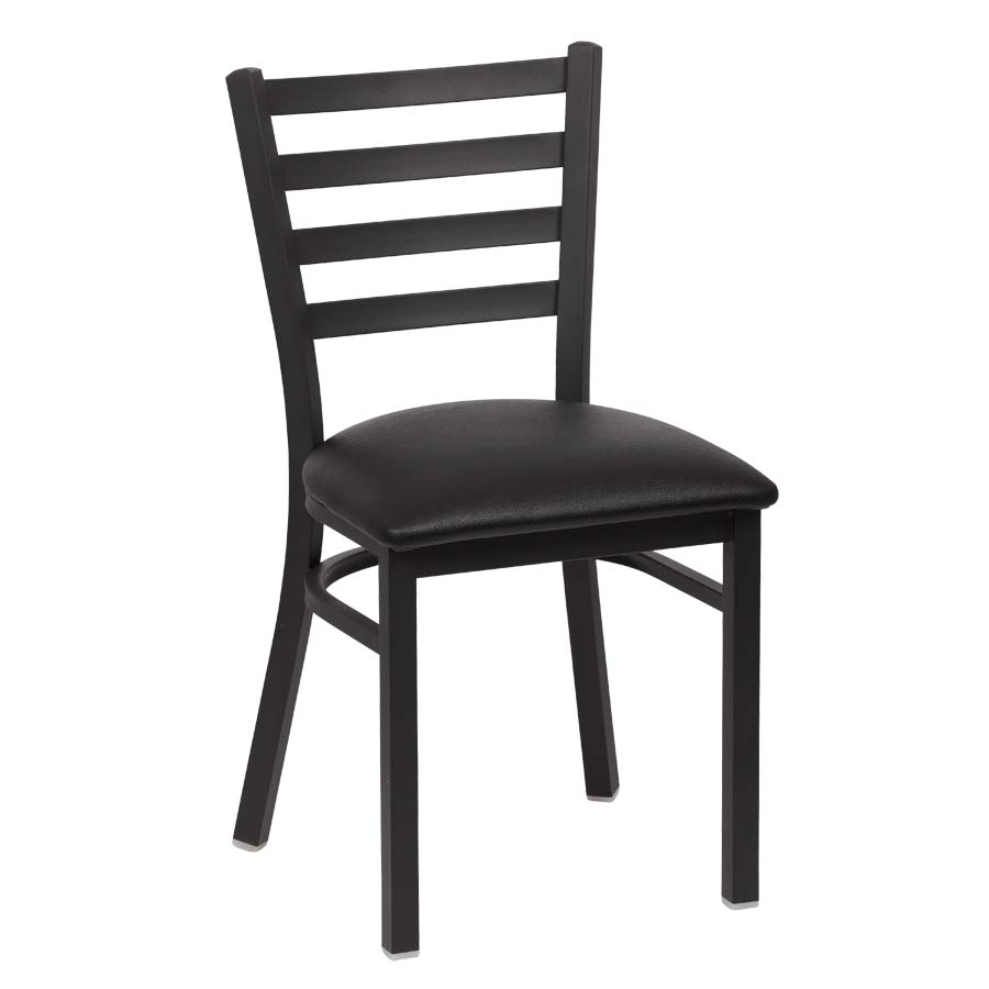Royal ROY 9001 BLK   Ladder Back Chair With Black Upholstered Seat (Case Of  2