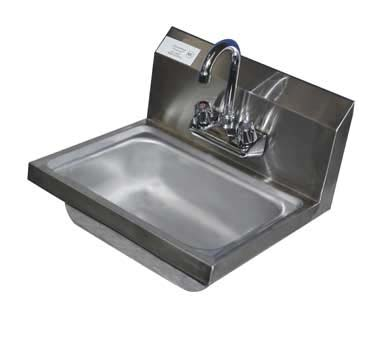 HS15-CWP Serv-Ware - Wall Mount Hand Sink with Faucet, 14\