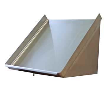 serv ware sr42 cwp slanted rack shelf 42 wall mount. Black Bedroom Furniture Sets. Home Design Ideas