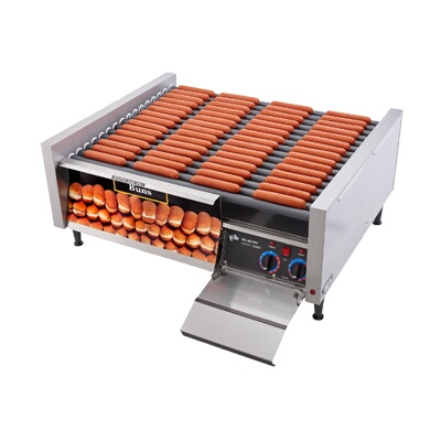 Star 75stbd grill max hot dog grill roller type with - Hot dog roller grill with bun warmer ...
