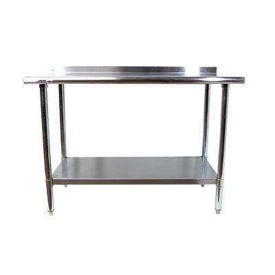 SFWT SunFab Work Table W X L Backsplash - Stainless steel work table with backsplash