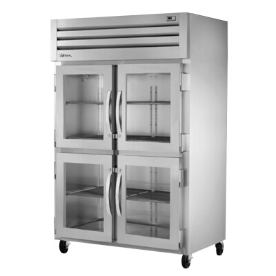 Swell True Stg2R 4Hg 2 Section Reach In Refrigerator W 6 Gray Shelves Home Interior And Landscaping Ologienasavecom