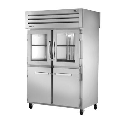 Fabulous True Stg2Rpt 2Hg2Hs2S 2 Section Pass Thru Refrigerator W 6 Gray Shelves Download Free Architecture Designs Ferenbritishbridgeorg
