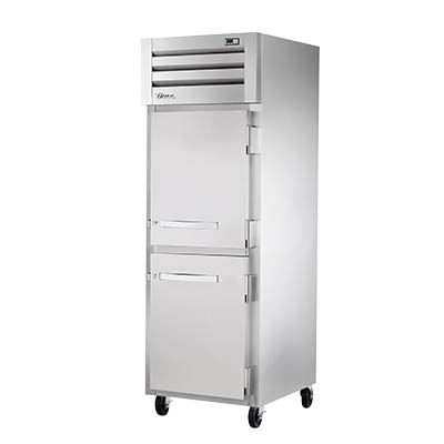True Sta1r 2hs Refrigerator Reach In One Section 2 Solid Doors Aluminum Interior