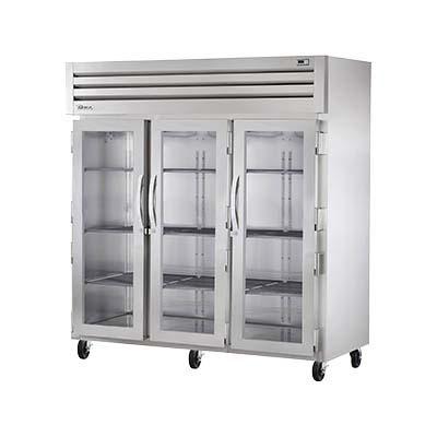 True Str3r 3g Reach In Refrigerator Three Section 3 Glass