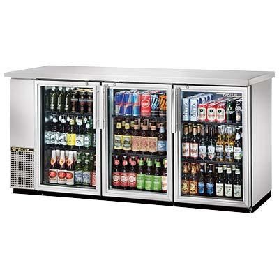 True Tbb 24 72g S Hc Ld Back Bar Cooler Three Section 3 12 Keg