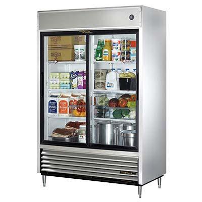 True Tsd 47g Hc Ld Reach In Refrigerator 2 Glass Sliding Doors