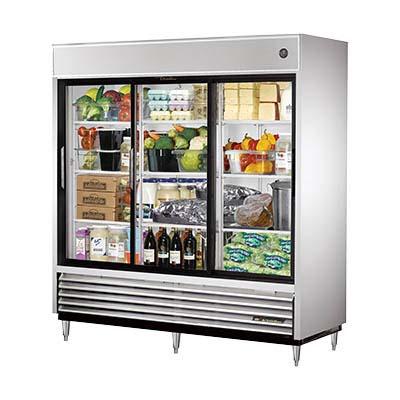 True Tsd 69g Ld Reach In Refrigerator 3 Glass Sliding Doors
