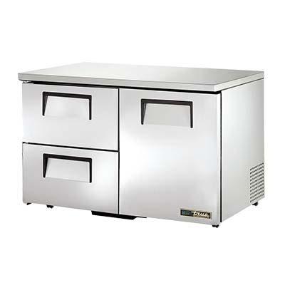 True Tuc 48d 2 Lp Hc Low Profile Undercounter Refrigerator 1 Door Drawers