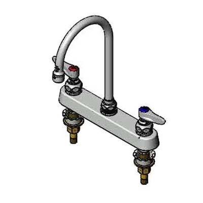 B-1142-XS T & S Brass - Faucet, gooseneck nozzle, deck mounted, 2\