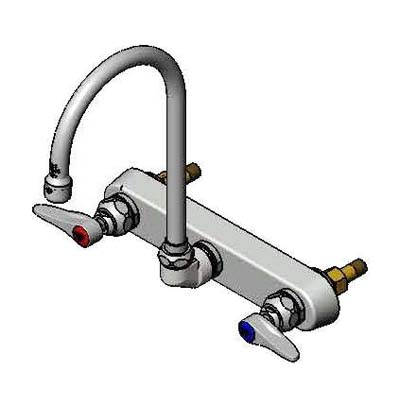 B-1147 T & S Brass - Faucet, gooseneck nozzle, splash mounted