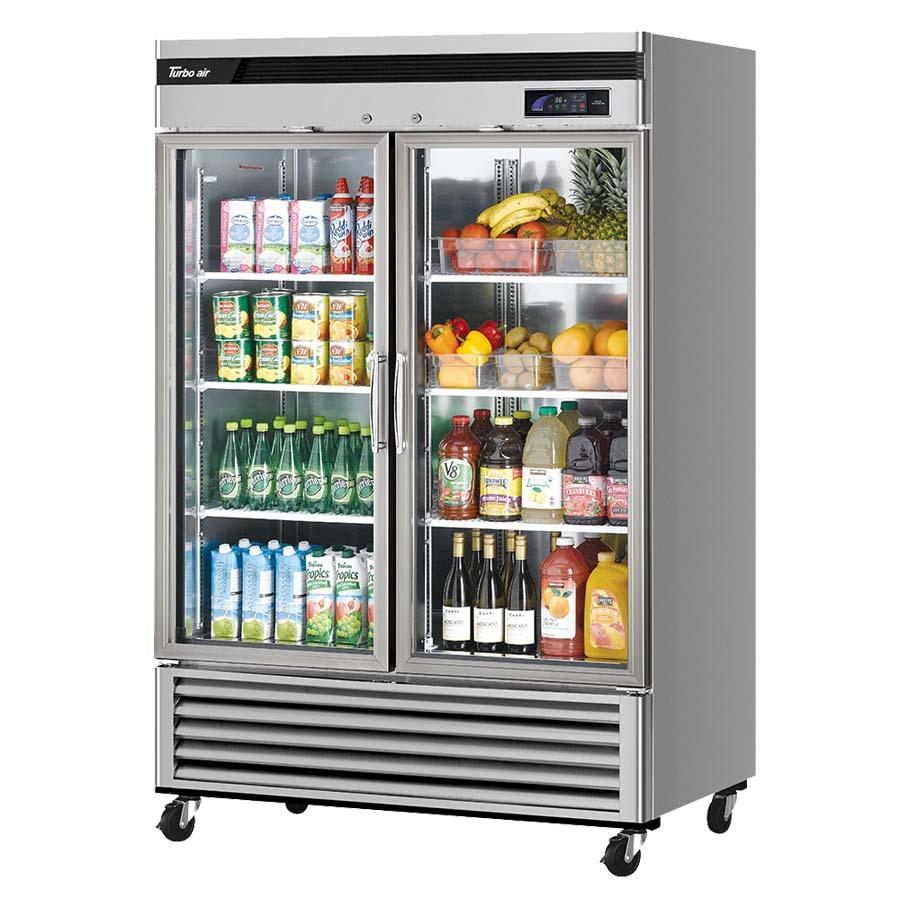 msr 49g 2 turbo air new maximum glass door refrigerator. Black Bedroom Furniture Sets. Home Design Ideas