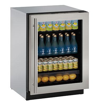U 3024rgls 00b Uline 24 Quot Glass Door Refrigerator Right