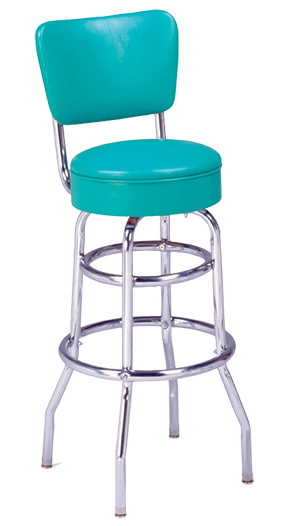 215 125 Rb Vitro Classic Stool With Back Amp Double Ring