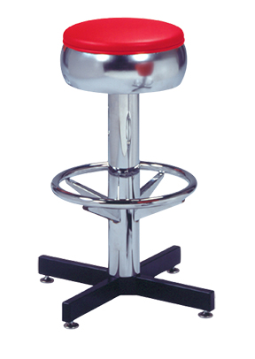 500 781 Vitro Classic Bulged Ring Stool With Cross Feet