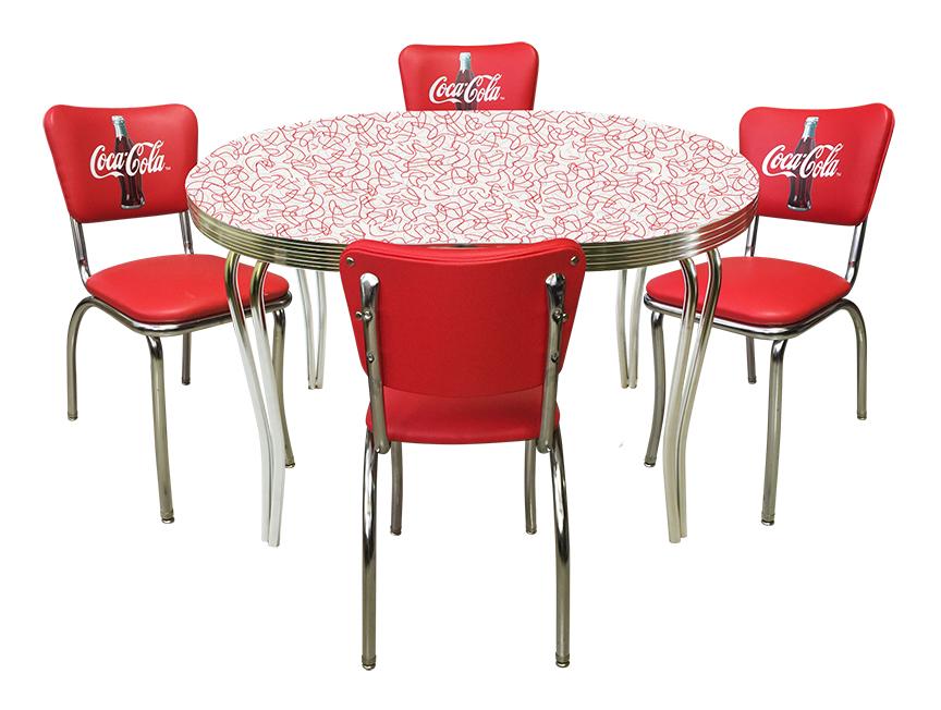 vitro bga 225 coca cola diner set 36 x 48 table with 4 chairs
