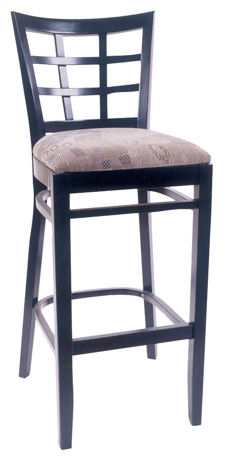 Wls 1200 Bs Vitro Seating Woodland Lattice Back Stool