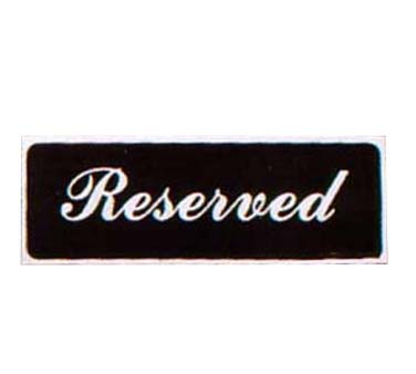 Vollrath 4135 - Reserved Sign 3 inch x 9 inch tabletop tent Made  sc 1 st  JES Restaurant Equipment & Reserved Sign 3