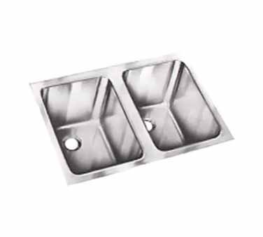 Vollrath 10102-1 - Undermount Weld-In Sink w/Double Bowls, 14 x 10 x 10 in.