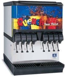 Multiplex SV-175 - Ice & Beverage Dispenser, countertop, (8) valves, 175 lbs. ice capacity