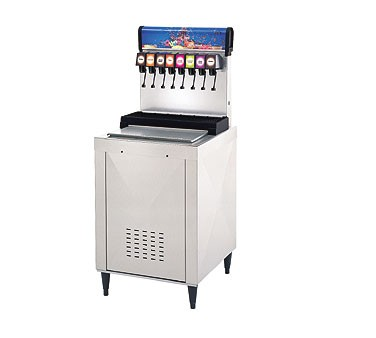 Multiplex DI-2323 - Beverage Dispenser, drop-in, with cold plate, (8) valves, 80 lbs. ice capacity