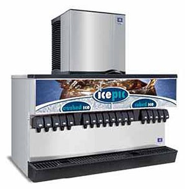 Multiplex MDH-402 SCI - Ice & Beverage Dispenser, 400 lbs. ice, ice crusher, (20) valves