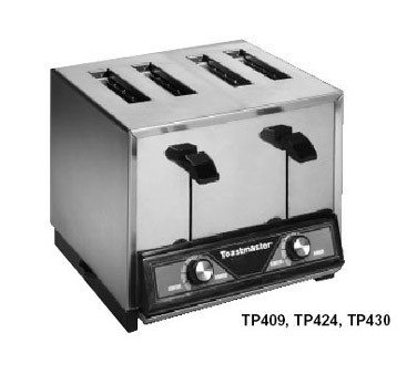 Toastmaster TP430-208C - Pop-Up Toaster, 4-slice bread toaster, stainless steel with mirr