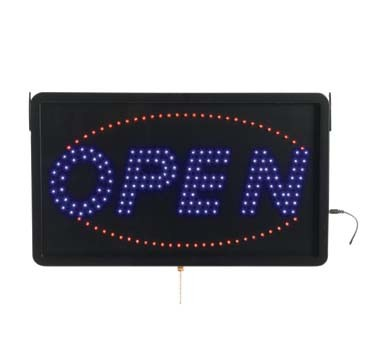 "Aarco OPE02L - LED Sign, 22""W x 13""H, ""OPEN"", (3) display modes"