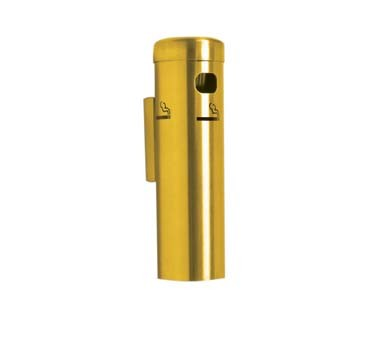 "Aarco SC15W - Cigarette Receptacle, 3-1/2"" dia. x 12-1/4""H, wall mounted"