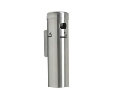 "Aarco SS15W - Cigarette Receptacle, 3-1/2"" dia. x 12-1/4""H ,wall mounted"