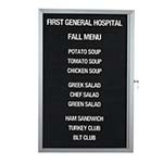 Aarco EDC3624L - Restaurant Message Board, 24