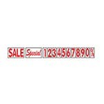 Aarco ROCLTR-3 - Letter Set, includes (2) Sale, (2) Special, (2) of each 1-0