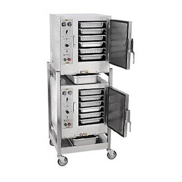 AccuTemp S62081D060 DBL - (2) Convection Steamers, w/ stand & casters, electric, (2) 208V