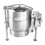 AccuTemp ACELT-100 - Tilting Kettle, Electric, 100 gallon, 2/3 steam jacket, 4 leg base