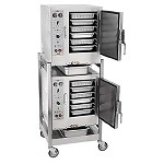 AccuTemp S62083D080 DBL - (2) Convection Steamers, w/ stand & casters, electric, (2) 208V