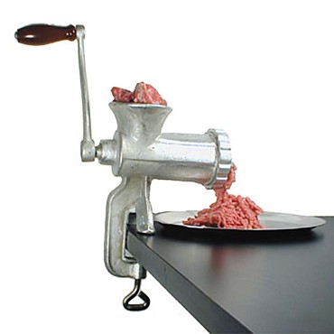 Adcraft 10HC - Manual Meat Grinder that is a heavy duty cast iron, the screw do